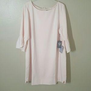 Vince Camuto Blush Ruffle Sleeve Dress Sz 22